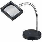 Schweizer Magnifying glass Arbeitsstandlupe Kunststoff Tischfuß, 3x/100x75mm, asphärisch