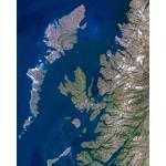 Planet Observer Harta regionala regiunea Hebrides & West Coast
