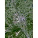 Planet Observer Mapa de : la región de Salzburgo