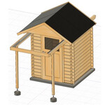 Dome Parts GmbH Rolldach-Sternwarte GreenLine Mini mit Anstrich