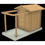 Dome Parts GmbH Rolldach-Sternwarte GreenLine Mini mit Holzschutz