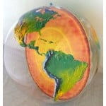 Inflatable globe with earth's core