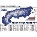 Carte régionale Marmota Maps Domaines skiables des Alpes (Francais)