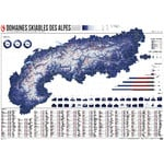 Marmota Maps Map of the Alps with 630 Ski Resorts (French)