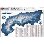 Marmota Maps Mapa regional Map of the Alps with 275 Ski Resorts