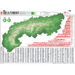 Marmota Maps Harta regionala Map of the Alps with 1001 Mountains and 20 Mountain trails