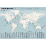 Mappemonde Marmota Maps Weltkarte Surfing Worldwide (Englisch)