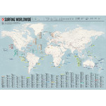 Marmota Maps Wereldkaart Weltkarte Surfing Worldwide (Englisch)