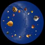 astrial Dia für das Sega Homestar Planetarium Heißluftballon Scenic