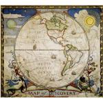 National Geographic Mapa de exploradores, hemisferio occidental