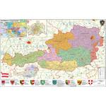 Stiefel Landkarte PLZ- & Organisationskarte Österreich politisch