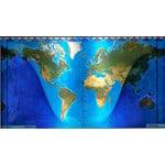 Geochron mapa mundial sobressalente (topográfico)