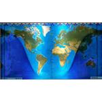 Geochron vervangwereldkaart, topografische