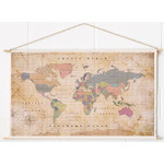 Mappemonde Miss Wood Woody Cotton Map Oldschool