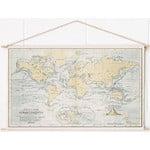 Miss Wood Woody Cotton Map Oceans