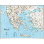 Carte géographique National Geographic Greece framed (silver) for pinning