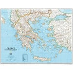 National Geographic Mappa Greece framed (silver) for pinning