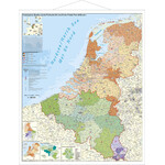 Stiefel Mapa regional BeNeLux with post codes and metal bars