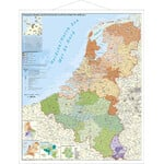 Stiefel Mappa Regionale BeNeLux with post codes and metal bars