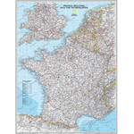 Carte géographique National Geographic France laminated