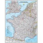 National Geographic Landkarte Frankreich Pinnwand gerahmt (silber)
