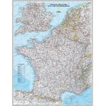 National Geographic Mappa France framed (silver) for pinning