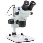Optika Stereo zoom microscope SZO-3, bino, 6.7-45x, Säulenstativ, Auf-, Durchlicht