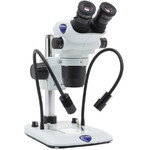 Optika Stereo zoom microscope SZO-5 , bino, 6.7-45x, Säulenstativ, Auf-, Durchlicht, Doppelspot