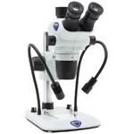 Optika Stereo zoom microscope SZO-6 , trino, 6.7-45x, Säulenstativ, Auf-, Durchlicht, Doppelspot