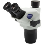 Optika Cabazal estereo microsopio SZO-T, trino, 6.7x-45x, w.d. 110 mm, Ø 23mm, click stop