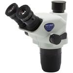 Tête zoom Optika SZO-T, trino, 6.7x-45x, w.d. 110 mm, Ø 23mm, click stop