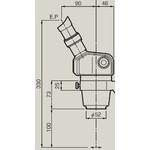 Nikon Cabeça estereoscópica Stereo Zoomkörper SMZ-460, bino, 0.7x-3x, 60°