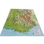 Carte régionale 3Dmap Les Alpes Françaises et ses massifs alpins