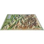 Carte magnétique 3Dmap La Savoie