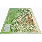 Carte régionale 3Dmap L'Isère