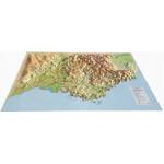 3Dmap Regional-Karte La Région La Provence-Alpes-Cotes d'Azur