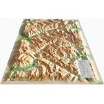 3Dmap Regional-Karte Queyras-Ubaye