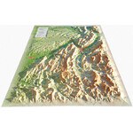 3Dmap Regional-Karte Vercors-Chartreuse