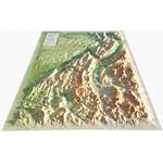 Carte régionale 3Dmap Vercors-Chartreuse