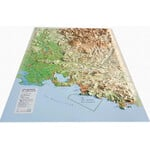 Carte magnétique 3Dmap Les Massifs de Provence
