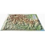 Carte régionale 3Dmap Le Massif du Mercantour