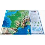 Carte régionale 3Dmap La France Physique (petite)