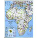 National Geographic Carte de continent Afrique, politiquement