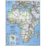 National Geographic Continent map Africa, politically groïoe