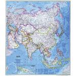 National Geographic Carte de continent Asie politiquement