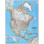 National Geographic Carte de continent Nord Amérique, politiquement grandement