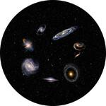 Omegon Dia für das Star Theater Pro mit Motiv Galaxien
