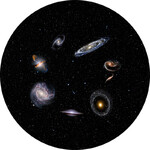 Redmark Diapositiva per planetari Bresser e NG con diverse Galassie