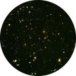 Redmark Diapositiva per planetari Bresser e NG con il campo ultraprofondo di Hubble