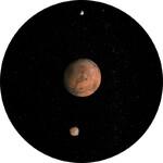 Redmark Diapositiva per planetari Bresser e NG con il Sistema di Marte